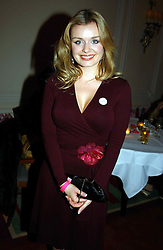 Mezzo-soprano singer KATHERINE JENKINS at the Pink Ribbon Party - A night of Fashion and Music in aid of 3 cancer charities, Breast Cancer Haven, Cancer Resource Centre and Positive Action on Cancer, held at the Waldorf Hilton Hotel, Aldwych, London on 19th October 2004. <br /><br />MINIMUM REPRODUCTION FEE - SEE OUR WEB SITE<br /><br />NON EXCLUSIVE - WORLD RIGHTS-
