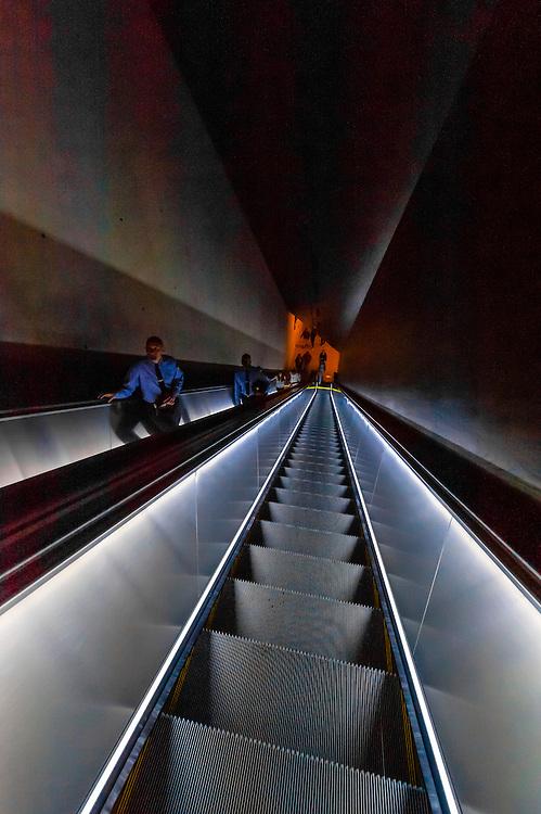 Escalator,  National September 11 Memorial & Museum, New York, New York USA.