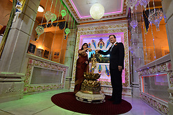 David & Samantha Cameron during a visit to Neasden Temple for Diwali celebrations, Neasden Temple, London, United Kingdom. Monday, 4th November 2013. Picture by Andrew Parsons / i-Images