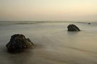 Tidal Rocks in Pacific Ocean, May 2005.  Coal Oil Point, Santa Barbara, California