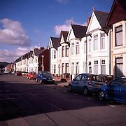 Housing in Merches Gardens, Grangetown, Cardiff, Wales