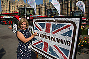Baroness Jones of Whitchurch at the National Farmers Union NFU took machinery, produce, farmers and staff to Westminster to encourage Members of Parliament to back British farming, post Brexit on 14th September 2016 in London, United Kingdom. MPs were encouraged to sign the NFU's pledge and wear a British wheat and wool pin badge to show their support.