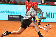 Dominic Thiem of Austria against Alexander Zverev of Germany during semi-final on the Mutua Madrid Open 2021, Masters 1000 tennis tournament on May 8 2021 at La Caja Magica in Madrid, Spain - Photo Laurent Lairys / ProSportsImages / DPPI