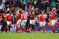 Arsenal Ladies FC celebrate winning at Wembley - Mandatory byline: Jason Brown/JMP - 14/05/2016 - FOOTBALL - Wembley Stadium - London, England - Arsenal Ladies v Chelsea Ladies - SSE Women's FA Cup