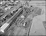 "Ackroyd 17666-1. ""Oregon Steel. aerial plant. February 1, 1972"" (NW Portland Guilds Lake area)"