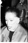 Martha Graham. Art Pro Choice. 13 March 1990© Copyright Photograph by Dafydd Jones 66 Stockwell Park Rd. London SW9 0DA Tel 020 7733 0108 www.dafjones.com