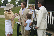 LADY DE ROTHSCHILD, ARPAD BUSSON WITH CY AND FLYNN AND TIM JEFFERIES. Guy Leymarie and Tara Getty host The De Beers Cricket Match. The Lashings Team versus the Old English team. Wormsley. ONE TIME USE ONLY - DO NOT ARCHIVE  © Copyright Photograph by Dafydd Jones 66 Stockwell Park Rd. London SW9 0DA Tel 020 7733 0108 www.dafjones.com