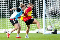 Loren Dykes and Frankie Brown of Bristol City Women during training at Failand - Mandatory by-line: Robbie Stephenson/JMP - 26/09/2019 - FOOTBALL - Failand Training Ground - Bristol, England - Bristol City Women Training