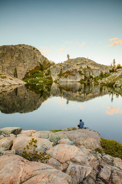 """""""Lake in the Tahoe Back Country 3"""" - Photograph of a small lake with no name in the Tahoe area back county, somewhat near Jackson Meadows."""