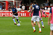 Queens Park Rangers players warm up before kick off during the EFL Sky Bet Championship match between Brentford and Queens Park Rangers at Griffin Park, London, England on 21 April 2018. Picture by Andy Walter.
