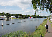 Henley on Thames. United Kingdom.  General View, towards Temple Island, from the bridge Nr Remingham Club.  Monday,  27/06/2016,   16:56:47   2016 Henley Royal Regatta, Henley Reach.   [Mandatory Credit Peter Spurrier/ Intersport Images]