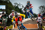 #66 (PALMER James) CAN [Clayborn, Answer] at Round 7 of the 2019 UCI BMX Supercross World Cup in Rock Hill, USA