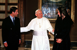 The Prince and Princess of Wales with the Pope after their private audience at the Vatican in Rome, during the Royal couple's 17-day official visit to Italy.