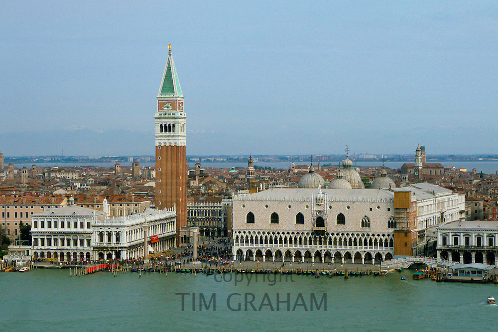 St Mark's Square and the Doges Palace viewed from across the canal  in Venice, Italy RESERVED USE - NOT FOR DOWNLOAD -  FOR USE CONTACT TIM GRAHAM