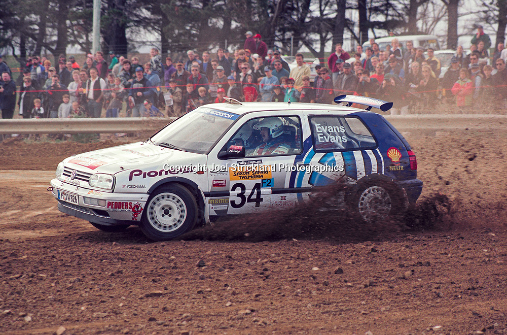 Simon Evans & Sue Evans – Volkswagen Golf Mk3 Kit car - Saxon Safari Tasmania - ARC- 11th-12th September 1999