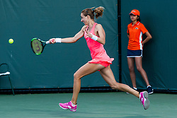 March 23, 2018 - Key Biscayne, FL, U.S. - KEY BISCAYNE, FL - MARCH 23: Petra Martic (CRO) in action on Day 5 of the Miami Open at Crandon Park Tennis Center on March 23, 2018, in Key Biscayne, FL. (Photo by Aaron Gilbert/Icon Sportswire) (Credit Image: © Aaron Gilbert/Icon SMI via ZUMA Press)