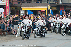The Seattle Cossacks Stunt Team performing at the Buffalo Chip during the annual Sturgis Black Hills Motorcycle Rally. SD, USA. August 10, 2016. Photography ©2016 Michael Lichter.