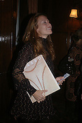 Diana Widmaier Picasso. Book launch for ' Picasso: Art Can Only Be Erotic' by diana Widmaier Picasso. American Bar at the Connaught. Carlos Place. London W1.  October 11 2005. ONE TIME USE ONLY - DO NOT ARCHIVE © Copyright Photograph by Dafydd Jones 66 Stockwell Park Rd. London SW9 0DA Tel 020 7733 0108 www.dafjones.com
