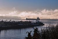 Elliott Bay in the Fog, Smith Cove