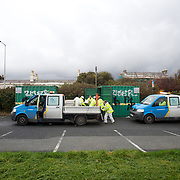 Dublin City Council workers at a sand bag depot in Sandymount.<br /> The authorities are on high alert this weekend as storm-force winds and high tides are expected to cause flooding chaos across Ireland.