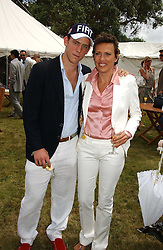 """CARLO CARELLO and his mother SARA CARELLO at the Goodwood Festival of Speed on 9th July 2006.  Cartier sponsored the """"Style Et Luxe' for vintage cars on the final day of this annual event at Goodwood House, West Sussex and hosted a lunch.<br /><br />NON EXCLUSIVE - WORLD RIGHTS"""