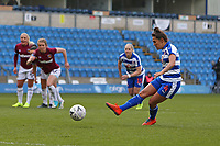 Football - 2018 / 2019 SSE Women's FA Cup - Semi Final: Reading FC Women vs. West Ham United Women<br /> <br /> Reading's Fara Williams steps up to take a penalty only to hit the post during the SSE Womens FA Cup semi final at Adams Park <br /> <br /> COLORSPORT/SHAUN BOGGUST