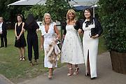 SALLY WOODWARD; MRS. DIAMANTIS LEMOS; MARTA DOSKARINA, 2016 SERPENTINE SUMMER FUNDRAISER PARTY CO-HOSTED BY TOMMY HILFIGER. Serpentine Pavilion, Designed by Bjarke Ingels (BIG), Kensington Gardens. London. 6 July 2016