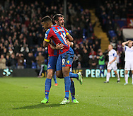 Crystal Palace's Fraizer Campbell and Scott Dann celebrate their sides opening goal<br /> <br /> - Barclays Premier League - Crystal Palace vs Sunderland- Selhurst Park - London - England - 3rd November 2014  - Picture David Klein/Sportimage