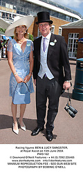 Racing figures BEN & LUCY SANGSTER, at Royal Ascot on 15th June 2004.<br /> PWD 162