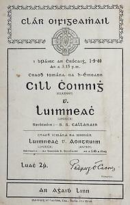 All Ireland Senior Hurling Championship Final,.Brochures,.01.09.1940, 09.01.1940, 1st September 1940, .Kilkenny 1-7, Limerick 3-7, .Minor Limerick v Antrim,.Senior Kilkenny v Limerick, .Croke Park,.0191940AISHCF,