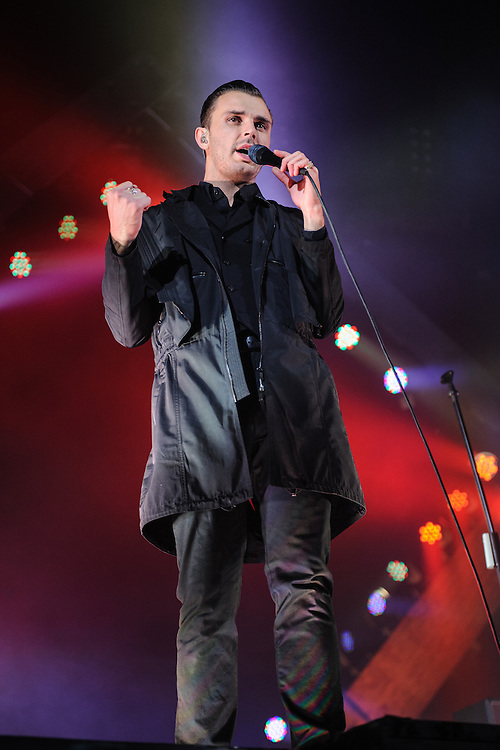 Hurts performing live at the Rockhal concert venue in Luxembourg, Europe on November 22, 2013