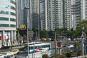 Shanghai City centre with Macdonalds and Chinese fast food outlets
