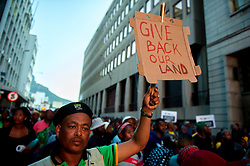 CAPE TOWN, Aug. 8, 2017  Supporters of South Africa's ruling African National Congress (ANC) gather in Cape Town, South Africa, on Aug. 8, 2017. South African President Jacob Zuma on Tuesday survived a no confidence motion by secret ballot. Parliament Speaker Baleka Mbete announced that 198 Members of Parliament voted against the motion, while 177 voted in favor and nine abstained. (Credit Image: © Jaco Marais/Xinhua via ZUMA Wire)