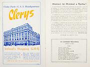 All Ireland Senior Hurling Championship Final,.01.09.1957, 09.01.1957, 1st September 1957,.Minor Kilkenny v Tipperary, .Senior Kilkenny v Waterford, Kilkenny 4-10.Waterford 3-12,..Advertisement, Clerys,