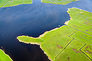 Nederland, Zuid-Holland, Kagerplassen, 09-04-2014; Lakerpolder in de Kager Plassen, in gebruik as grasland voor de veeteelt. De omringende veenplassen zijn ontstaan door het ontginnen van veen. <br /> Peat Lakes, western part of Holland, caused by the reclaiming of peat.<br /> luchtfoto (toeslag op standaard tarieven);<br /> aerial photo (additional fee required);<br /> copyright foto/photo Siebe Swart.