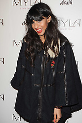 JAMEELA JAMIL at a party to celebrate the 10th anniversary of the Myla lingerie brand held at Almada, 17 Berkeley Street, London on 17th November 2010.