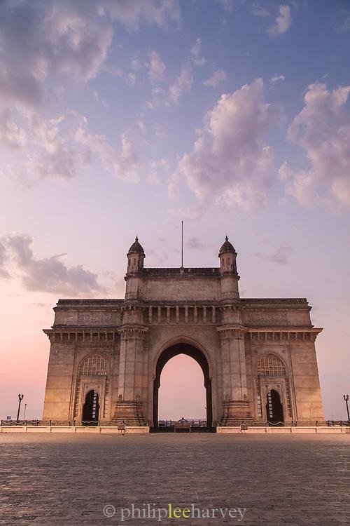 View of Gateway of India at sunset, Mumbai, India