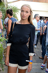 AGATHE CHAPMAN attending the Warner Bros. & Esquire Summer Party held at Shoreditch House, Ebor Street, London E1 on 18th July 2013.