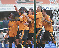 Birmingham city v Wolves,Championshipe ,18-11-2006,Wolves celebrate there goal.