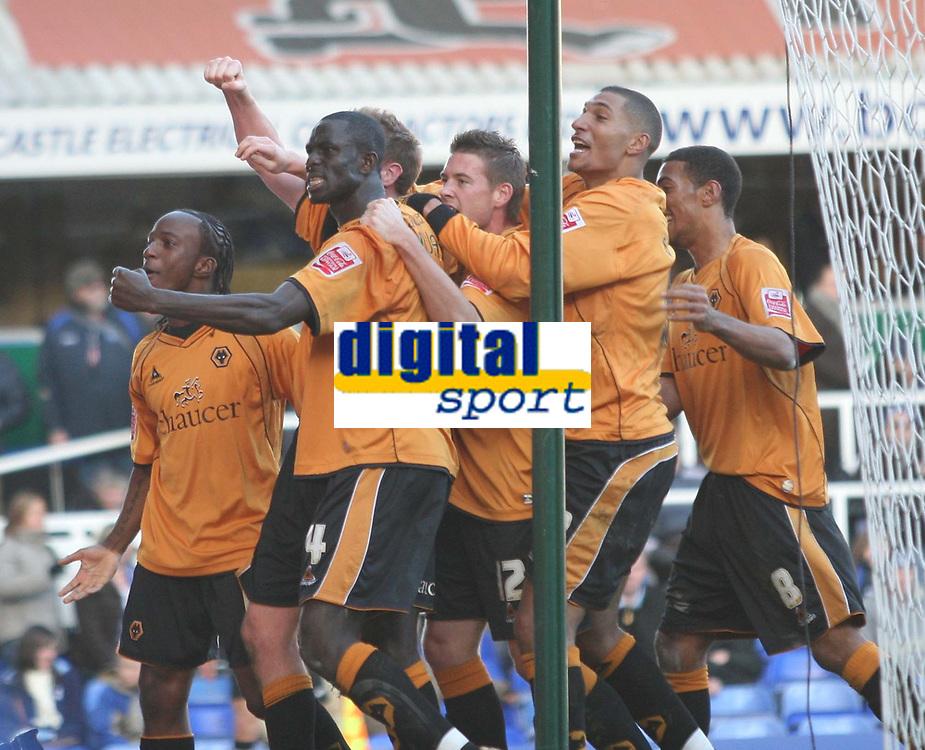 Birmingham city v Wolves,Championshipe ,18-11-2006,Wolves celebrate there goal.