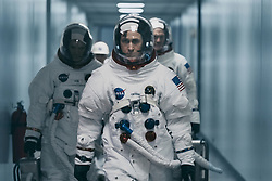 (L to R, Foreground): Lukas Haas, Ryan Gosling and Corey Stoll in FIRST MAN. (2018) Universal