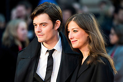© Licensed to London News Pictures. 16/10/2016. London, UK. SAM RILEY and ALEXANDRA MARIA LARA attend the film premiere of Free Fire showing at The London Film Festival. Ray Tang/LNP