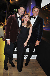 Left to right, JIMMY CARR, KYLIE MINOGUE and DAVID WALLIAMS at the GQ Men of The Year Awards 2012 held at The Royal Opera House, London on 4th September 2012.