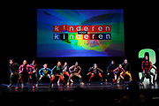 Perspresentatie 35 jaar Kinderen voor Kinderen en bekendmaking van Musical van Kinderen voor Kinderen in het DeLaMar Theater in Amsterdam.<br /> <br /> Op de foto:  Optreden van de kinderen van het koor.