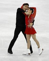 February 15, 2018 - Pyeongchang, KOREA - Wenjing Sui and Cong Han of China compete in pairs free skating during the Pyeongchang 2018 Olympic Winter Games at Gangneung Ice Arena. (Credit Image: © David McIntyre via ZUMA Wire)