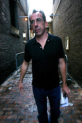 02 Feb, 2006.  New Orleans, Louisiana. Post Katrina.<br /> New Orleans author and Times Picayune columnist Chris Rose before the launch of his new book, 'One dead in Attic.' <br /> Photo; Charlie Varley/varleypix.com