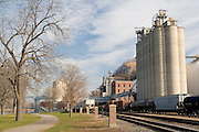 Minnesota USA, The old train station or depot in Red Wing November 2006