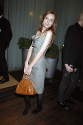 VALENTINE FILLOL-CORDIER at a party to celebrate the launch of the Suka restaurant at the Sanderson Hotel, berners Street, London on 15th March 2007.<br /><br />NON EXCLUSIVE - WORLD RIGHTS