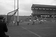 01/09/1968<br /> 09/01/1968<br /> 1 September 1968<br /> All-Ireland Senior Hurling Final: Tipperary v Wexford at Croke Park, Dublin. <br /> Tipperary's S. McLoughlin (14) scores a goal as the Wexford goal keeper, P. Nolan, leaves the goal.