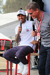March 16, 2019 - LEWIS HAMILTON and DAVID COULTHARD attending the F1 Driver Q&A Panel on Qualifying Saturday at the 2019 Formula 1 Australian Grand Prix on March 16, 2019 In Melbourne, Australia  (Credit Image: © Christopher Khoury/Australian Press Agency via ZUMA  Wire)